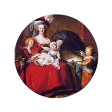"Lebrun: Marie Antoinette & children 3.5"" Button"