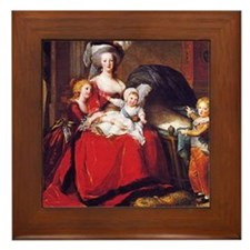 Lebrun: Marie Antoinette & children Framed Tile