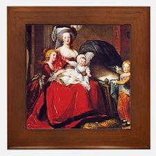 Lebrun: Marie Antoinette & children Framed Tile