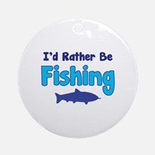 I'd rather be fishing with my daddy Ornament (Roun