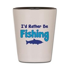 I'd rather be fishing with my daddy Shot Glass