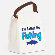 I'd rather be fishing with my daddy Canvas Lunch B