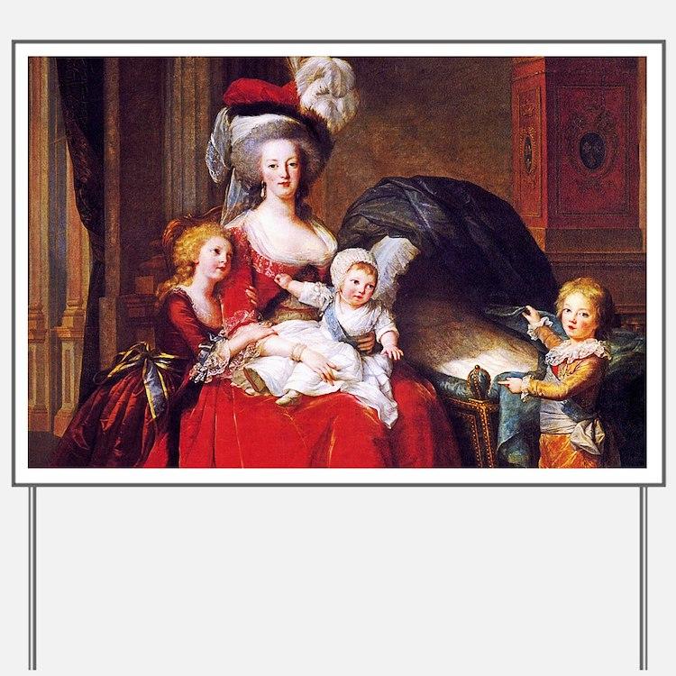 Lebrun: Marie Antoinette & children Yard Sign