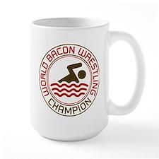 World Bacon Wrestling Champion Mug