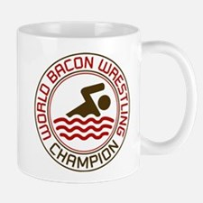 World Bacon Wrestling Champion Mug