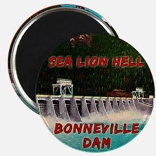 Sea Lion Hell Magnet