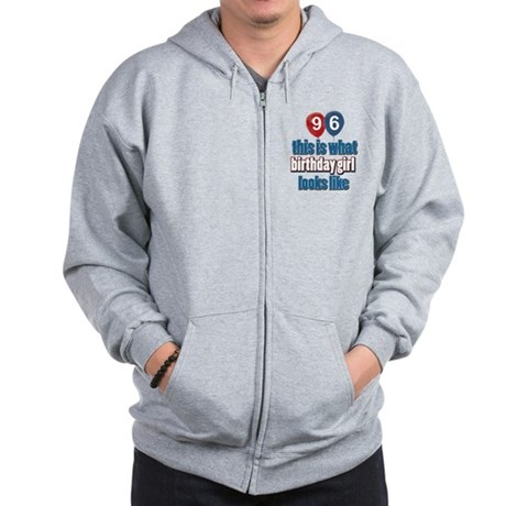 96 year old birthday girl Zip Hoodie