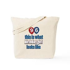 96 year old birthday girl Tote Bag