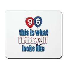 96 year old birthday girl Mousepad