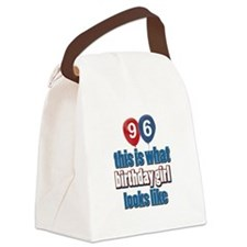 96 year old birthday girl Canvas Lunch Bag