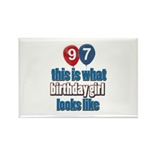 97 year old birthday girl Rectangle Magnet