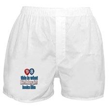 98 year old birthday girl Boxer Shorts