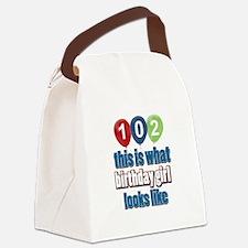 102 year old birthday girl Canvas Lunch Bag