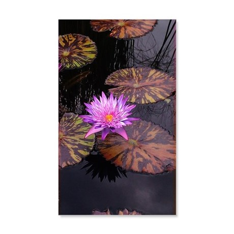 Pale Purple Waterlily Wall Decal