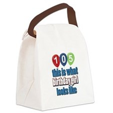 105 year old birthday girl Canvas Lunch Bag
