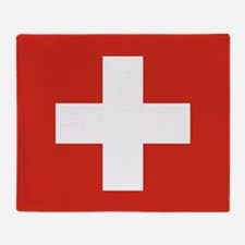 Flag of Switzerland Throw Blanket