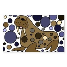 Colorful Walrus Art Decal