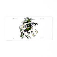 Gunn Unicorn Aluminum License Plate