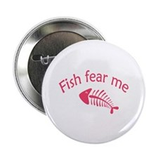 """Fish fear me 2.25"""" Button (10 pack)"""