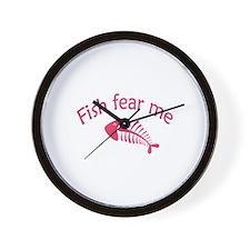 Fish fear me Wall Clock