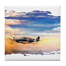 SPITFIRE AIRCRAFT Tile Coaster