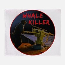 Whale Killers Throw Blanket