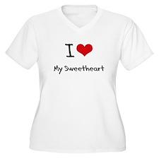 I love My Sweetheart Plus Size T-Shirt