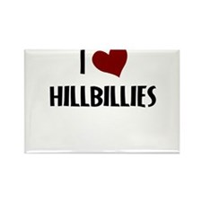 I LOVE HILLBILLIES Rectangle Magnet
