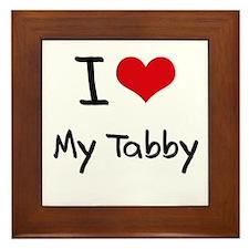 I love My Tabby Framed Tile
