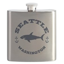Sharking Seattle Flask
