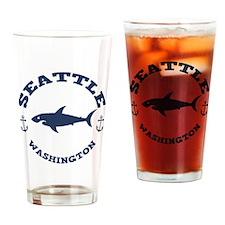 Sharking Seattle Drinking Glass