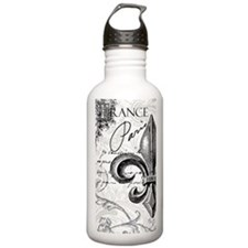 Vintage French fleur de lis Water Bottle