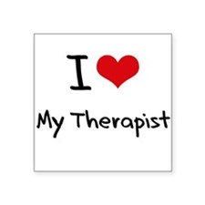 I love My Therapist Sticker