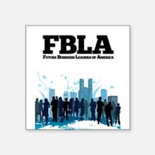 "FBLA T-shirt Square Sticker 3"" x 3"""