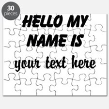 HELLO MY NAME IS ------- Puzzle