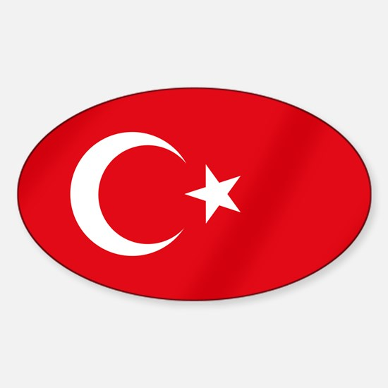 Flag of Turkey Sticker (Oval)