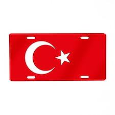 Flag of Turkey Aluminum License Plate