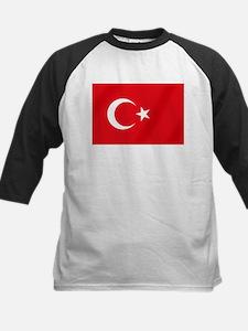Flag of Turkey Kids Baseball Jersey