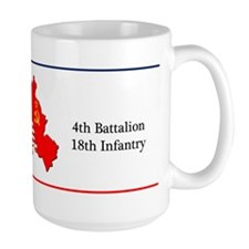 4th Battalion 18th Infantry Large Coffee Mug