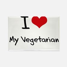 I love My Vegetarian Rectangle Magnet