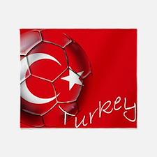 Turkey Football Flag Throw Blanket