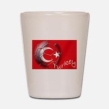 Turkey Football Flag Shot Glass