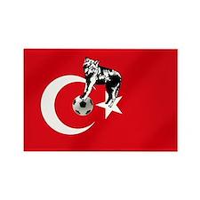 Turkey Soccer Flag Rectangle Magnet