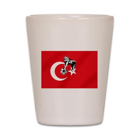 Turkey Soccer Flag Shot Glass