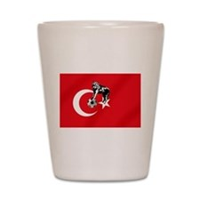 Turkey Soccer Flag Shot Glass