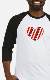 Heart Stars Stripes Amor 23 Designer Baseball Jers