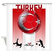 Turkish Football Soccer Shower Curtain