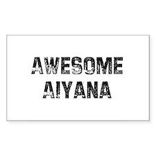 Awesome Aiyana Rectangle Decal