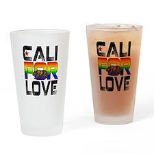 Cali For Love LGBT California Drinking Glass