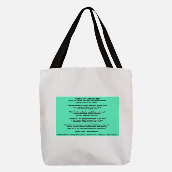 Rules Of Chocolate Polyester Tote Bag